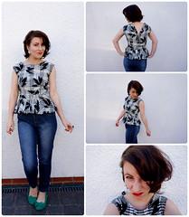 The Refashion Checklist - The '80s peplum blouse