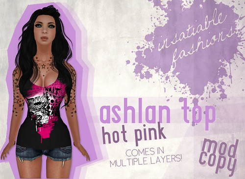 [IF] Thrift Shop Item: Ashlan Top in Hot Pink - Tango Appliers available separately!