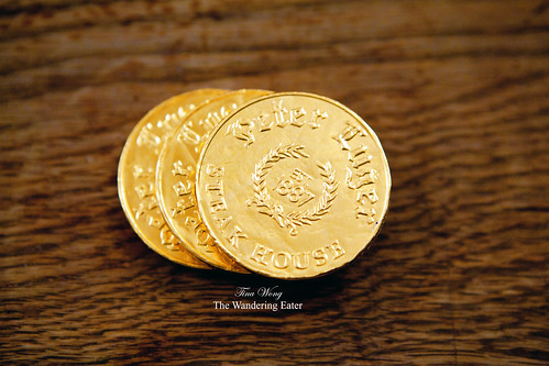 Peter Luger chocolate coins