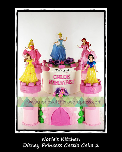 Norie's Kitchen - Disney Princess Castle Cake 2 by Norie's Kitchen