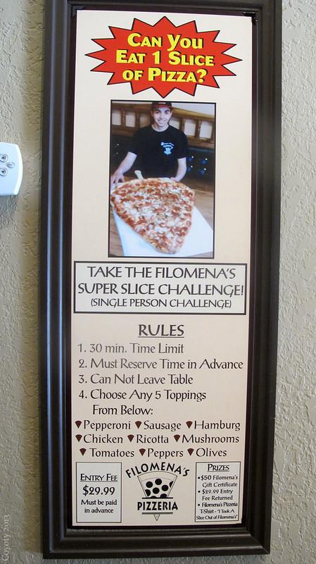 Filomena's Super Slice Challenge