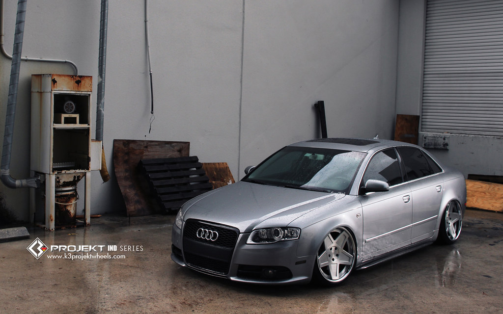 K3 Projekt Wheels | IND Series Model 5SG on Joshuas Audi B7 A4 Bagged