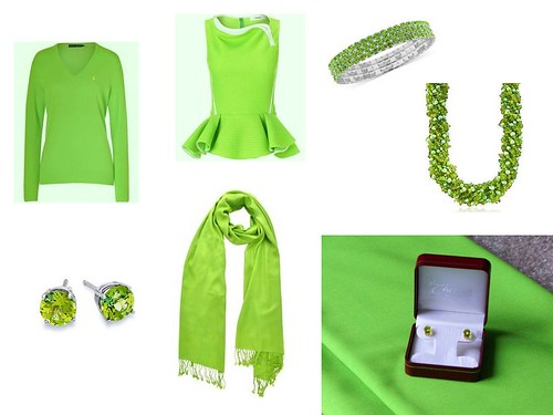 Lime green pieces