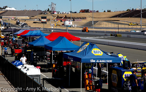 Pit Road before practice on Friday