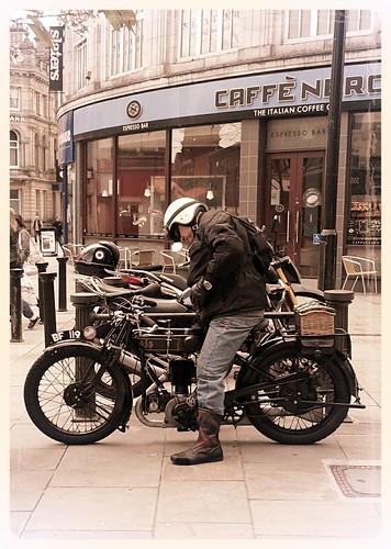 AJS Vintage Motorcycle by davekpcv