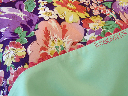 DIY vintage pillowcase