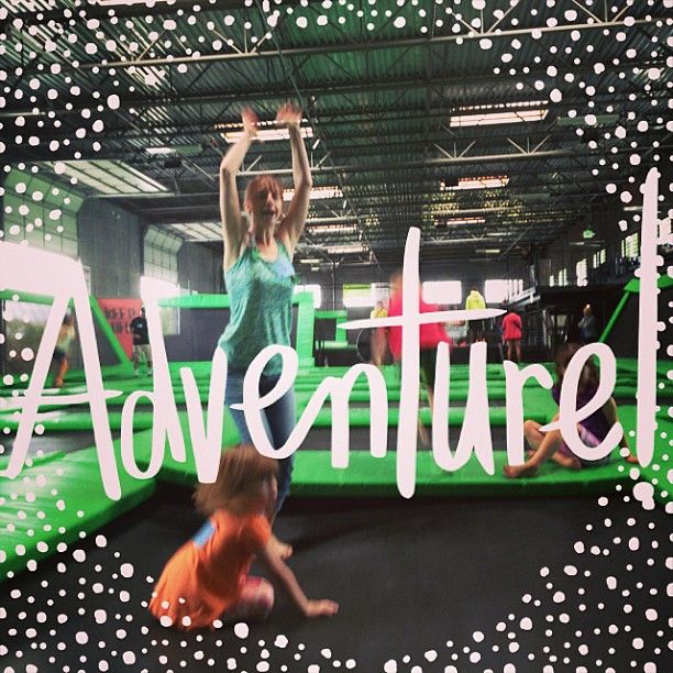 Trampoline fun!! #ABeautifulMess