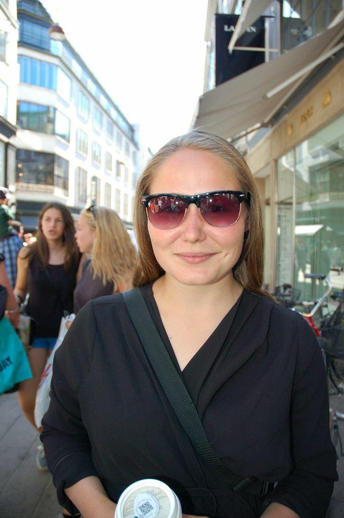 Maria with Han Kjøbenhavn eyewear