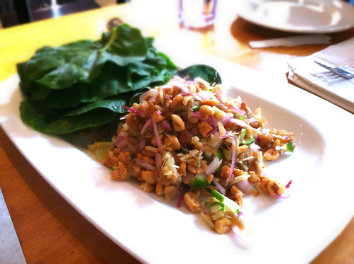Mieng Ka Na (dried pork salad) from Wondee Siam