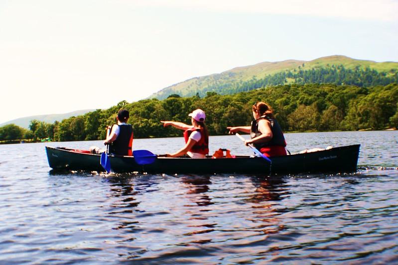 Canoeing on Loch Lomond, Scotland