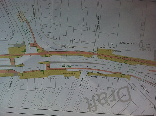 Draft design for Leith Walk - June 2013