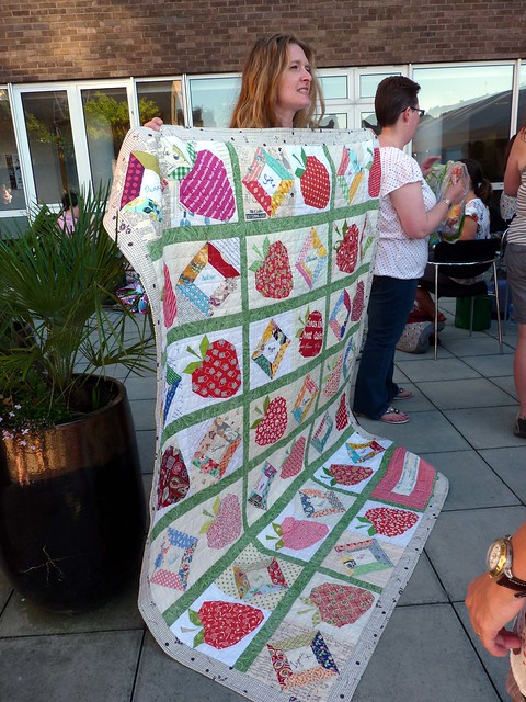 Kerry showing off this fab quilt