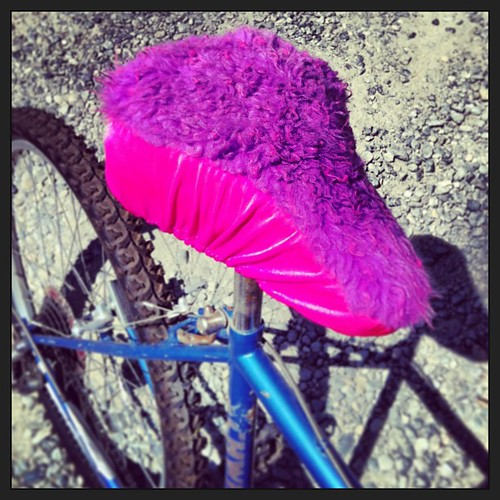 my DIY bicycle seat cover