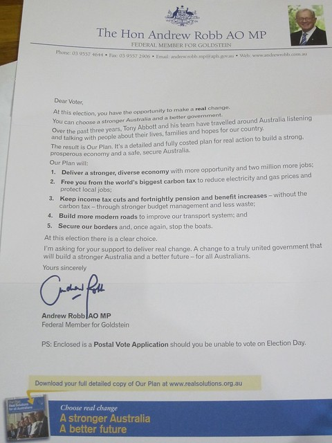 Official looking envelope turns out to be party political letter (2/3)