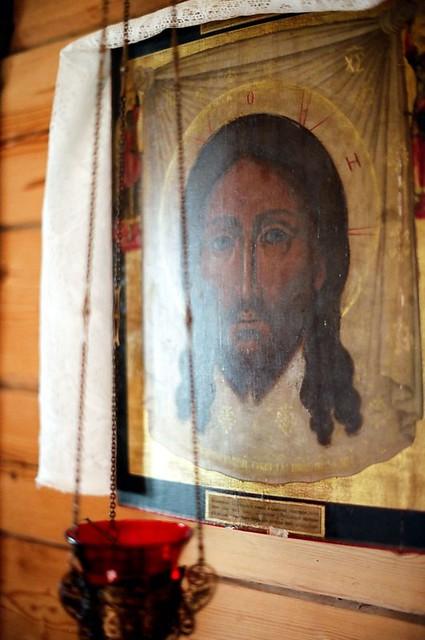 Спаситель. Икона в часовне Смоленского скита  Jesus Christ. The icon in the chapel of the monastery of Smolensk