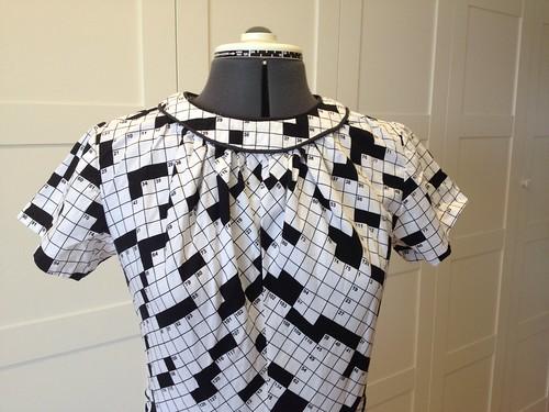 crossword dress #1 bodice