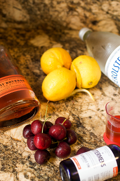 Cherry Bourbon Lemonade #SundaySupper
