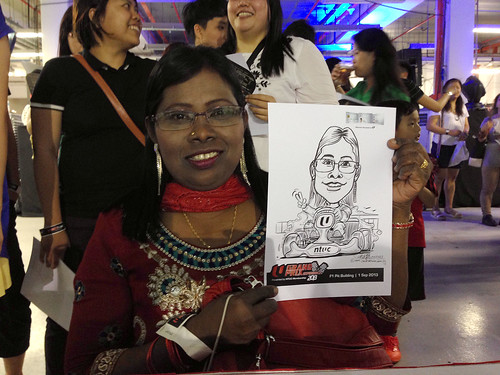 caricature live sketching for NTUC U Grand Prix Experience 2013 - 34