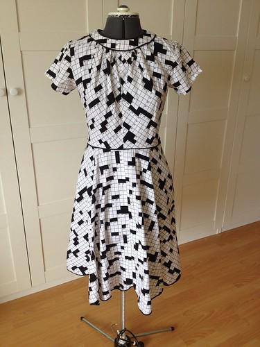 crossword dress #1