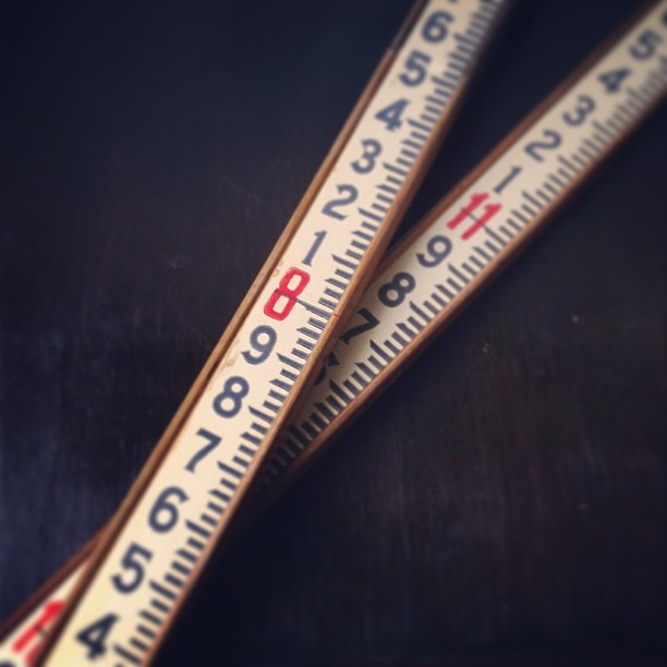 Recently acquired: vintage surveying measuring stick. Three sets soon to be available in the shop. #vintagesoupshop