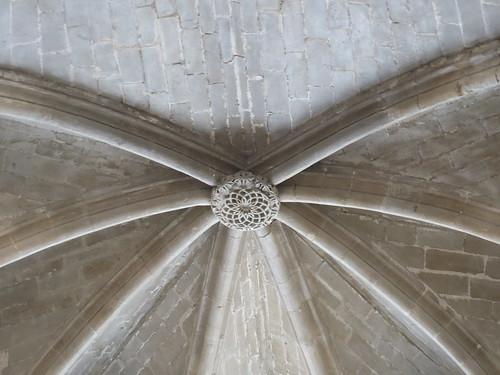 Iglesia de San Miguel de Foces - Detalle de la bóveda de la cabecera 2