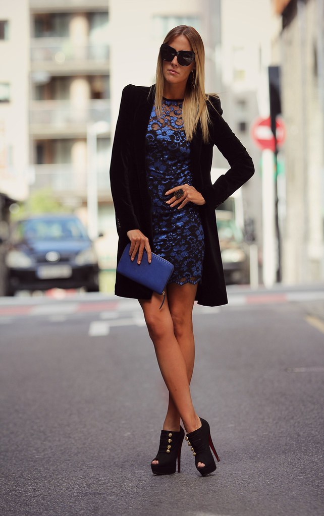 style lover blue lace dress XVII
