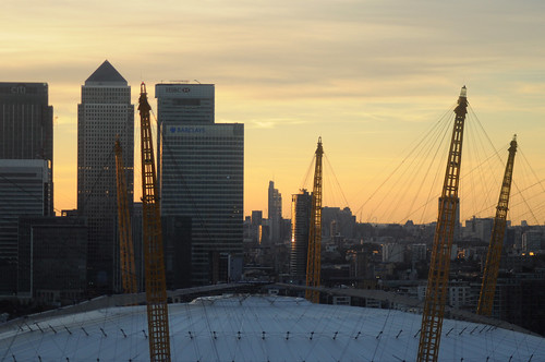 Sunset London from the cable car