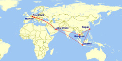 Fly itinerary