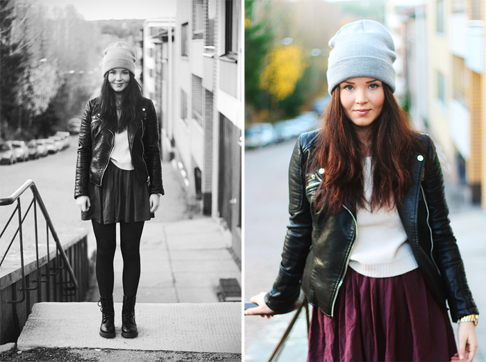 Leather & burgundy – Annika Ollila