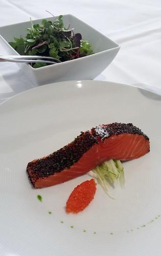 Tetsuya's: Confit of Petuna Ocean Trout with Salad of Celery, Witlof, Apple & Unpasteurised Ocean Trout Roe