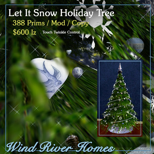 Let It Snow Holiday Tree by Teal Freenote