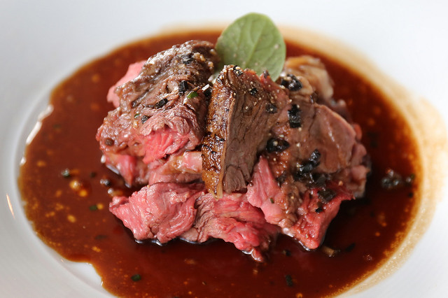The Sunday roast now features roasted prime US beef tenderloin with veal jus reduction