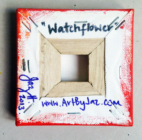 """Watch Flower"" original mini painting by Jaz Higgins"