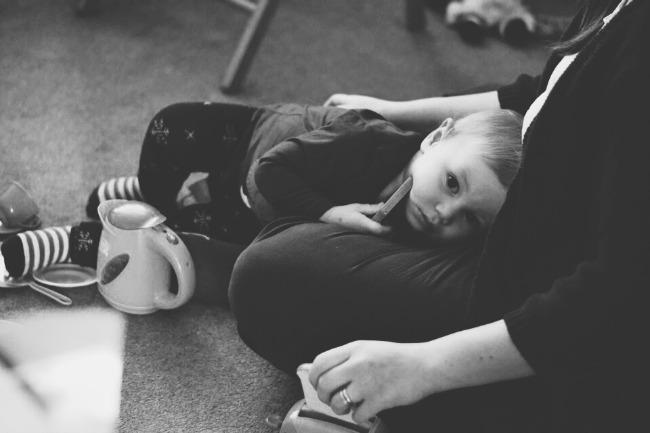 Cuddles with Mummy