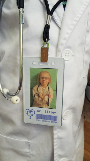 Dr. Eisley's badge