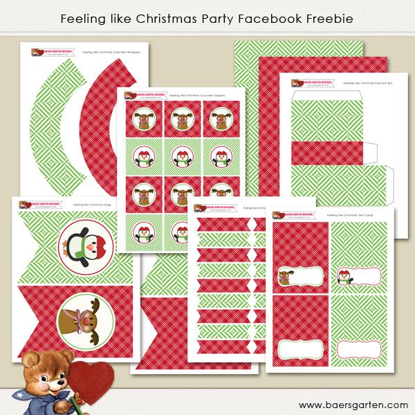 Feeling like Christmas Facebook Freebie