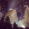 Magical snowfall at the Rockefeller tree! #holidays #rockefellercenter #nyc #snow #christmas