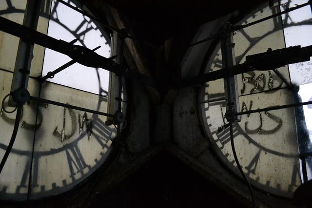 Clock tower interior, Wilton Mills