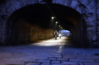 Bikes in a Tunnel