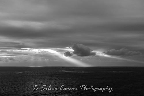 light japan sunrise cape okinawa rays chinen