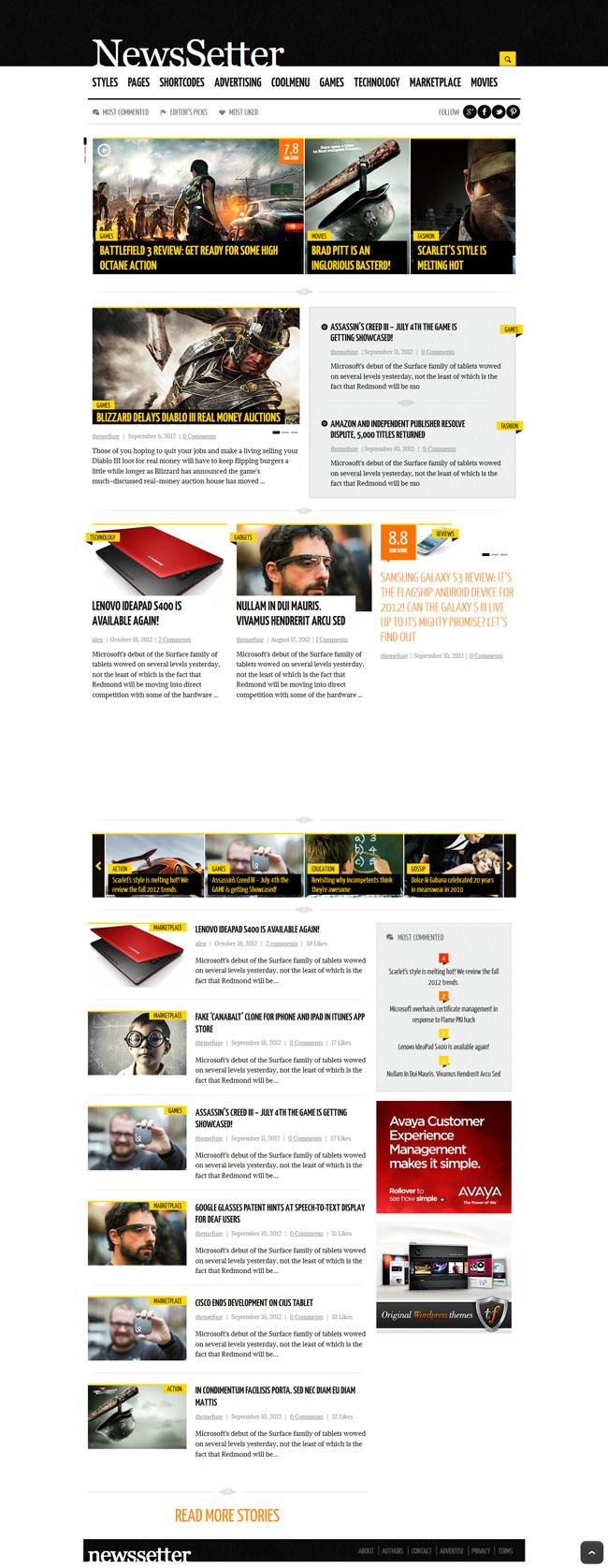 NewsSetter - News WordPress Theme