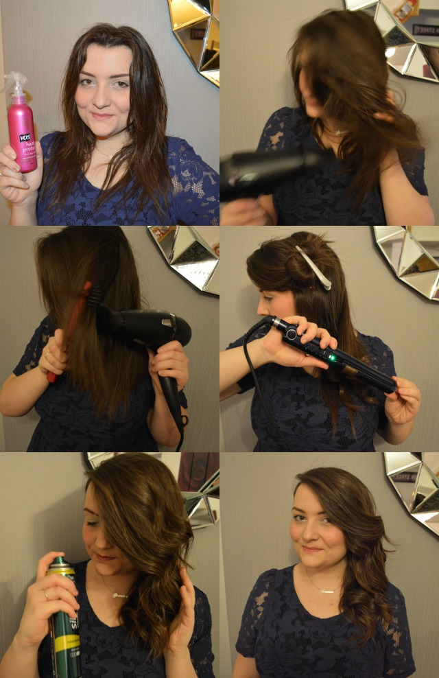 a picture of GHD Air hairdryer hair tutorial waves