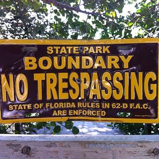 Still closed for concrete footbridge repair. Sad. #florida #betweenriverlagoon #artresidency