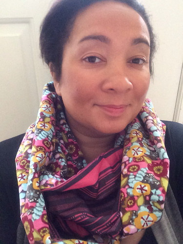 Infinity scarf with AMH velveteen and voile