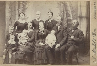 Lydia Brant and Family (Cabinet Card by A. Hinkel & Son, Warrensburg, Missouri)