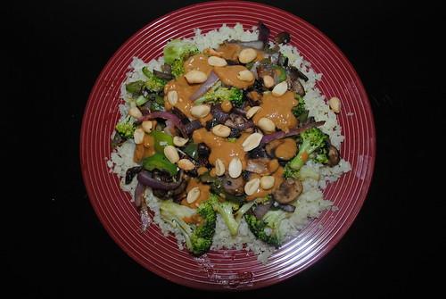 Cauliflower Rice Peanut Stir Fry (3)