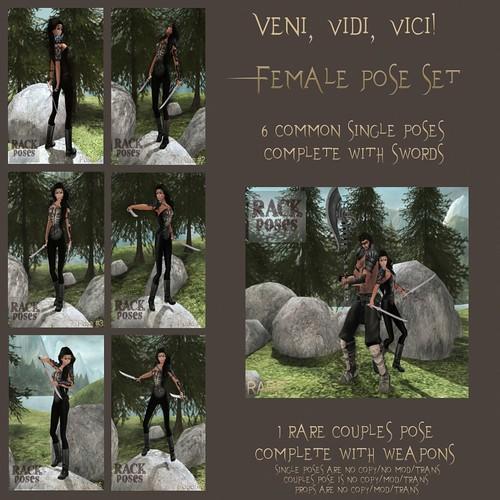 RACK Poses - Veni, vidi, vici! Female Pose Set