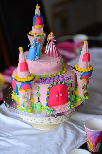 Pink Princess Birthday Cake