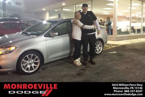 Thank you to Carlee Harnish on your new car from Jarred  Terrell and everyone at Monroeville Dodge! #RollingInStyle by Monroeville Dodge