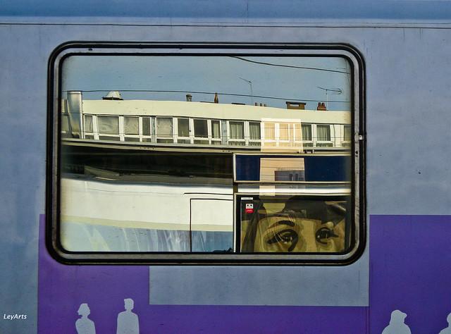 Trains - reflets